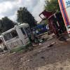 """Кървава катастрофа – """"Камаз"""" разцепи автобус, 14 са починали на място"""