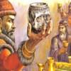 Как хан Крум прави чаша от черепа на византиеца Никифор