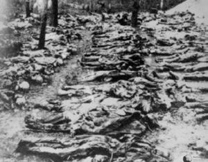 22 хиляди поляци- цялата полска интелигенция бе избита от съветските служби в Катинската гора преди 70 години!