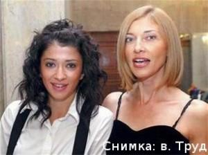 Биляна и майка й - втората жена на Георги Лозанов - Галя Георгиева