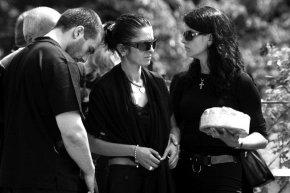 На погребението на Милчо Бонев