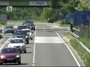 Пътят, на който става катастрофата с кортежа на Първанов