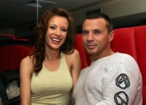 Яна Маринова с втория си съпруг Тишо