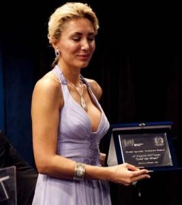 Мишел с наградата се от фестивала