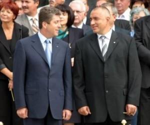 Първанов и Борисов - плътно зад гърба на Бирата