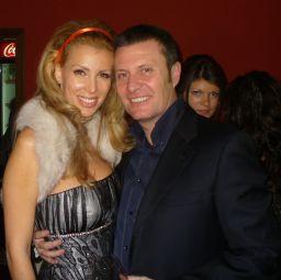 Онтева с италианския си годеник Давид