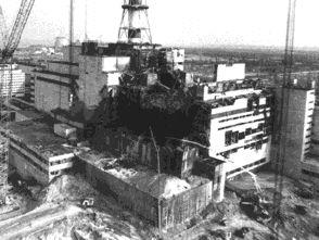 Чернобилската АЕЦ след взрива на реактора