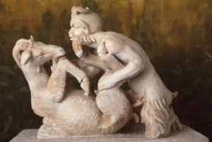 Зоофилията е застъпен в античното изкуство