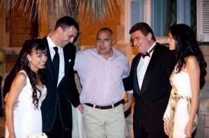 Бойко на сватбата на авера си Валентин Златев