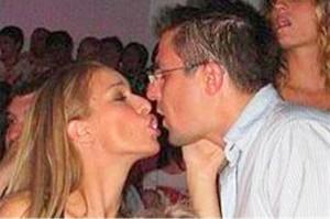 Андрей и бившата му съпруга - сръбкинята Даниела