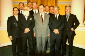 Волен Сидеров в компанията на терориста от Ал Кайда, Ахмед Рами и антисемита Джералд Тобен