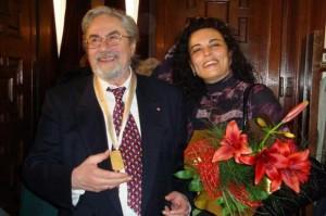 Анна Мария с мъжа си - оперния бас Никола Гюзелев