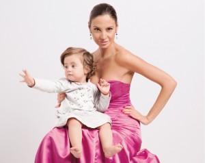 Наталия Гуркова и дъщеричката й Джорджия