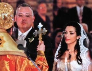 Елена Петрова и Аристотелис Фотилас в сватбения си ден