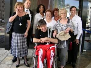Гого,докато все още беше в инвалидна количка...