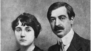 Пейо Яворов и последната му муза - съпругата му Лора Каравелова