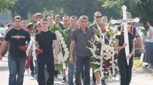 Погребението на Ангел Петров в Катуница