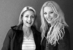 Венета Райкова и  нейната дружка Елена Ангелова