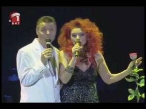 Нели Рангелова  на една сцена с колегата си Георги Христов