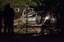 Автомобилът на Диков е напълно унищожен след взрива