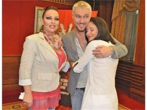 """Ивана с колегите си -съдии в """"Гласът на България""""- Миро и Марияна"""