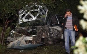 Служебният Форд на Сашо Диков бе гръмнат с 1 кг. тротил