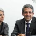 Кандидат - президентската двойка на ГЕРБ Маргарита Попова и Росен Плевнелиев