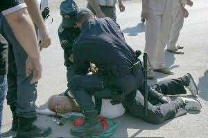 полицаи бой