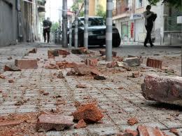 Разбита улица в Перник