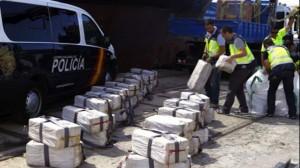Една от заловените пратки с кокаин на Брендо