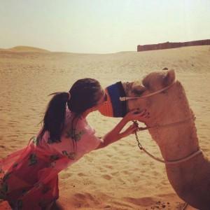 Николета нацелува камила