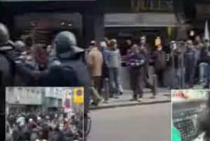 Масов бой между полиция и протестиращи