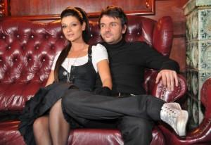 Графа със съпругата си Мария