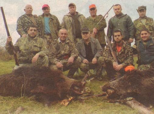 Ловците от с. Веселие след драматичния, но успешен излет