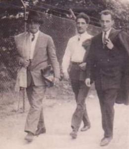 Борис Ангелушев, Матвей Вълев, Александър Жендов на разходка