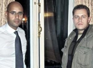 Със синът на Муамар Кадафи