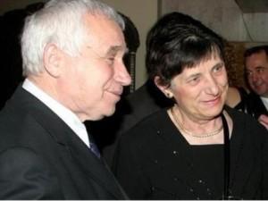 Желю Желев със съпругата си Мария Желева