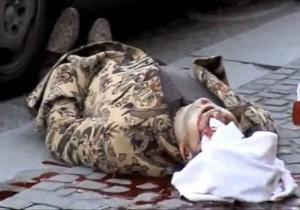Трупът на Косьо Самоковеца, застрелян на 6 декември в Амстердам. Четири дни по-късно е ликвидиран и Тодор Димов - Чакъра, който е посрещал в България физическия убиец на контрабандиста