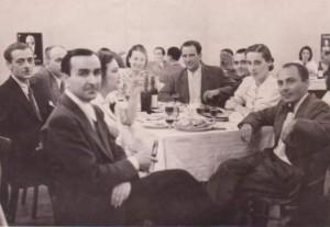 Прощална вечеря с Матвей Вълев, който заминава през 1942 г. на фронта като доброволец