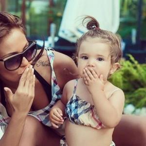 С дъщеря си Никол