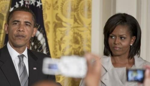 Президентът със съпругата си Мишел