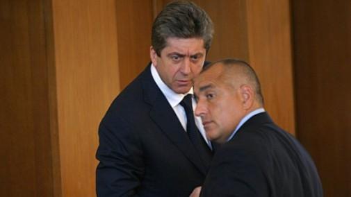 Георги  Първанов и Бойко Борисов