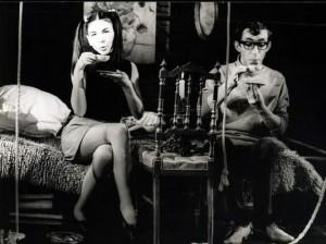 """1968 г. С Коста Карагеоргиев в спектакъла на Сатиричния театър """"Ромео, Жулиета и петрол"""" на Иван Радоев, 1968 г."""