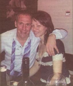 """Радовтин и Екатерина на новогодишното парти в заведението му """"W Bar"""" в центъра на Бургас"""