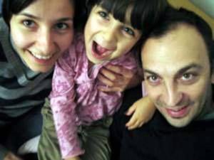 Угрински с жена си Биляна и дъщеря им Анита