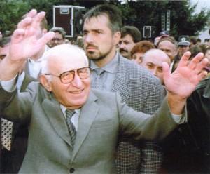 Тато и охранителят му Бойко Борисов