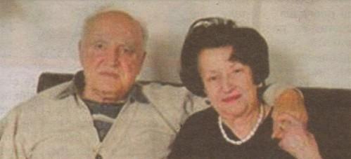 Димитър Попов със съпругата си Мария