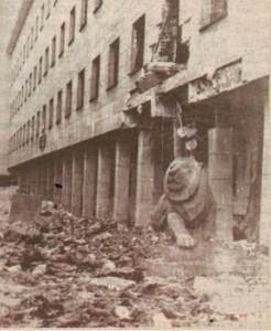 Погром в центъра на София от англо-американски бомби