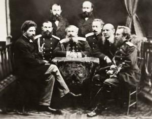 Временното руско правителство начело с княз Дондуков-Корсаков. Сергей Лукиянов (първият отляво) завежда Съдебния отдел
