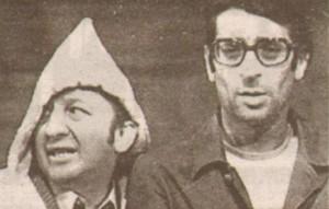 Никола Анастасов (вляво) и Славчо през 70-те